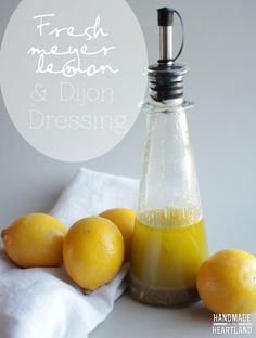 Fresh meyer lemon and dijon salad dressing