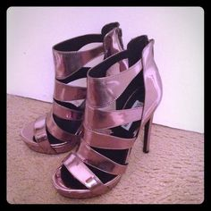 Steven Madden Metallic Gladiator High Heel Sandals Steven Madden Metallic Gladiator High Heels Sandals. Brand new without box and tag, never been worn. Steve Madden Shoes Sandals
