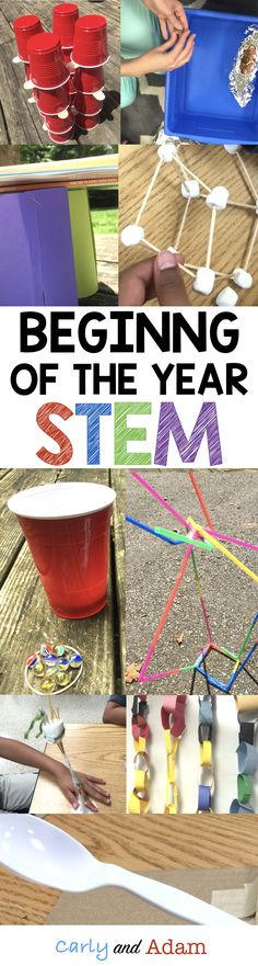 Beginning of the year STEM Challenges!