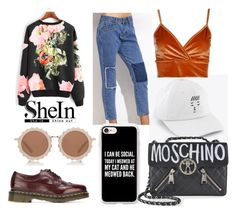 """105"" by lara-s1734 ❤ liked on Polyvore featuring Dr. Martens, Casetify, House of Holland, Moschino and Boohoo"