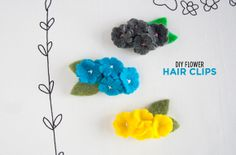 Little cuties for your Little Cuties! -- Felt Flower Hair Clips by Dotcoms for Moms.