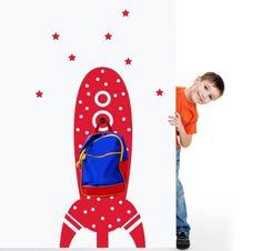 Make your kids room interesting and more joyfull with cohete hanger vinyl wall decals. Design your own design also Kids Wall Decals, Wall Hanger, Design Your Own, Kids Room, Nursery, Make It Yourself, Disney Princess, Disney Characters, 3d
