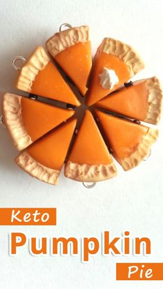 """""""Pumpkin pie can be keto friendly when the crust is made of pecans and the filling is primarily pumpkin, eggs, and autumn spices."""" Keto Pumpkin Pie - You must try this recipe. Desserts Keto, Keto Snacks, Dessert Recipes, Dessert Ideas, Party Recipes, Healthy Snacks, Keto Pumpkin Pie, Pumpkin Recipes, Ketogenic Recipes"""