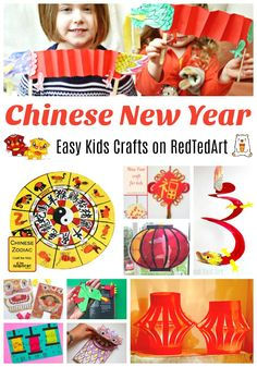 Red Ted Art gets you ready for Chinese New Year with our collection of Chinews New Year Activities and Crafts. From fabulous Dragon Puppets, to explor. Chinese New Year Crafts For Kids, Chinese New Year Activities, Chinese Crafts, New Years Activities, Animal Crafts For Kids, Easy Crafts For Kids, Craft Activities, Art For Kids, Pig Crafts