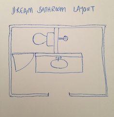 50 Ideas Pocket Door Ensuite Bathroom Layout For 2019 Bathroom Floor Plans, Pool Bathroom, Ensuite Bathrooms, Bathroom Doors, Bathroom Toilets, Laundry In Bathroom, Basement Bathroom, Bathroom Flooring, Master Bathroom