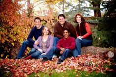 Family picture in the leaves #family pictures