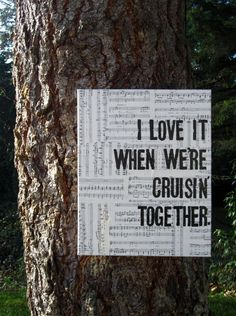 A quote from our song <3 Crusin' - Smokey Robinson <3