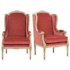 Pre-1800 Collectibles Fashion Style Pair Of 18th Century Louis Xvi Fauteuils By Delauney Original Paint Hand Carved Pretty And Colorful