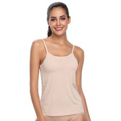 c1e2cf2cb6 Basic Solid Cami Women Seamless Slimming Camisole Shapewear Top Body  Shaping Vest Adjustable Straps Tank Tops