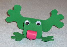 Great idea for kids to get interactive with their crafts! Just have them blow into the party favour and make the frog look like its trying to catch a fly. Want to make this more exciting for them? Make construction paper flies and put tape on both sides, tape one side to the wall, and have the kids try to catch the flies by getting the party blower to stick to the tape on the other side!