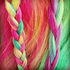 Rainbow hair, so cute-