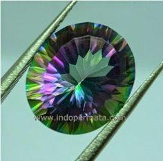 mystic quartz | batu permata mystic quartz-multicolor quartz-rainbow quartz-batu mulia ...
