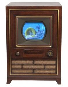 First RCA consumer color television, produced in March 25, 1954