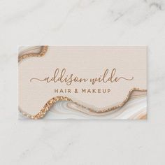 Shop Elegant Gold Glitter Marble Agate Modern Chic Business Card created by PrintablePretty. Makeup Business Cards, Salon Business Cards, Elegant Business Cards, Unique Business Cards, Gold Business Card, Jewelry Logo, Graphic Design Posters, Gold Glitter, Creations