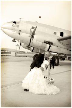 #romance #airplanewedding