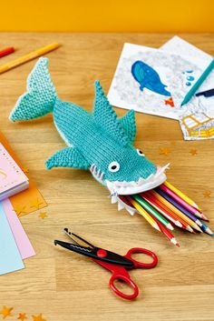 Shark pencil case // Let's Get Crafting, issue 101