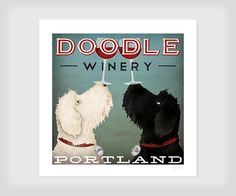 LABRADOODLE Wine Beer Coffee Brewing Personalized FREE - Custom - Double Dog GOLDENDOODLE on Etsy, £23.56