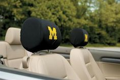 University of Michigan Wolverines Set of 2 Auto Headrest Covers