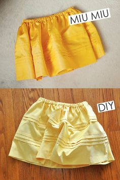 Super easy Miu Miu skirt DIY - this one's for you April - are you still pinteresting?