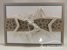 Sternenkonfetti Christmas 2017, Christmas Cards, Advent, Stampin Up Karten, Star Cards, Winter, Frame, Ideas, Star Chart