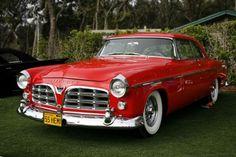 55 Chrysler 300. I love red cars and trucks!