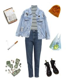 """""""we are"""" ❤ liked on Polyvore featuring Topshop, Madewell, Dr. Martens and Peek"""