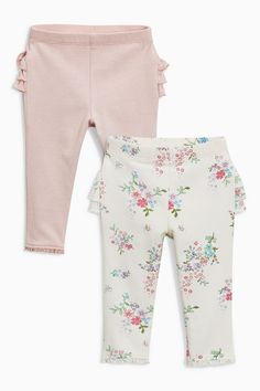 Buy Ruffle Leggings Two Pack (0mths-2yrs) from the Next UK online shop