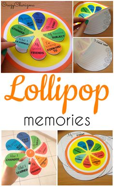 Lollipop Memories - grab and use at the END of the YEAR! End Of Year Activities, Learning Activities, Teaching Ideas, Creation Activities, School Resources, Teacher Resources, Google Classroom, Primary Classroom, Classroom Ideas