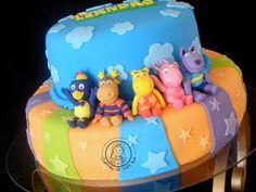 Backyardigans 1st Birthday Party Themes, Birthday Cake, Torta Matilda, Preemie Babies, Ideas Para Fiestas, Fiesta Party, Baby Party, First Birthdays, Gabba Gabba