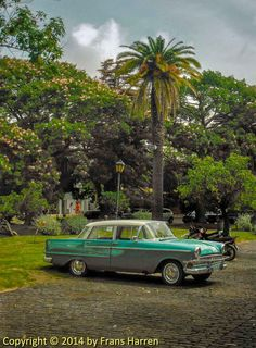 Classic car in Colonia del Sacramento, Uruguay
