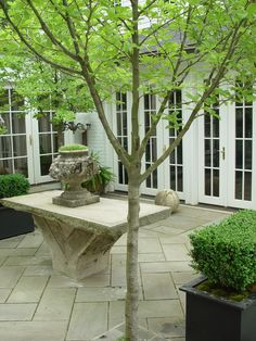 Home - Porches, Decks and Patios - antique stone table