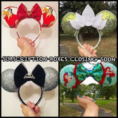 Only a couple slots still available so get your ears subscription box now before my store closes for December!  Subscription boxes are $75 plus $15 domestic shipping (international shipping is $15 per box). Once you have secured a slot via Etsy payment you will fill out a simple questionnaire so I can identify your style and taste you will receive one surprise pair of ears each month in January February and March! These ears could be new unreleased designs seasonal designs or just unique…