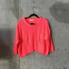 BNWT neon coral sweater BNWT. Not Zara Zara Sweaters