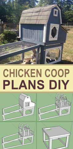 Here are the plans for the chicken coop that I built. Very sturdy and easy to build. Great DIY project!