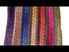 Manta crochet ganchillo facil paso a paso en español - YouTube