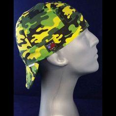 Neon Green Camo Welding Hat Welding Cap Pattern 895999f8df48