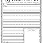 """This is a SAMPLE of my full version """"My Favorite Pet"""" opinion writing and graphic organizer."""