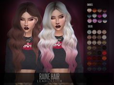 sims 4 cc // custom content hairstyle // the sims resource // Leah Lillith's LeahLillith Raine Hair Sims 4 Mods, Sims 3, Sims 4 Tsr, The Sims 4 Pc, Sims 4 Game Mods, The Sims 4 Bebes, Sims 4 Toddler Clothes, Pelo Sims, The Sims 4 Cabelos