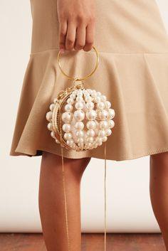Rosantica: Mini Billie Bag in Pearl Beaded Clutch, Beaded Bags, Hampden Clothing, Couture Handbags, Novelty Bags, Fashion Bags, Covet Fashion, Fall Fashion, Kids Fashion