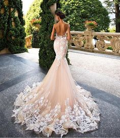 Wonderful Perfect Wedding Dress For The Bride Ideas. Ineffable Perfect Wedding Dress For The Bride Ideas. Bridal Wedding Dresses, Dream Wedding Dresses, 2017 Wedding, Trendy Wedding, Mermaid Dress Wedding, European Wedding Dresses, Mila Nova Wedding Dress, Wedding Lace, Perfect Wedding