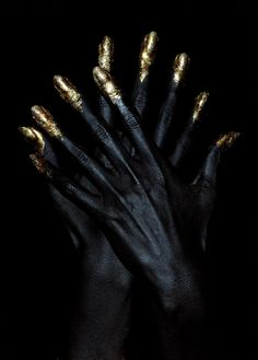 Gold Tipped Hands
