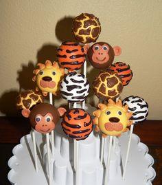 Make Jungle Safari Cakepops A Cupcake . Safari Baby Shower Cake, Baby Shower Cake Pops, Boy Baby Shower Themes, Baby Shower Fun, Jungle Theme Birthday, Safari Theme Party, Jungle Party, Jungle Cake Pops, Animal Cake Pops