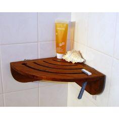 Shower Teak Spa Teak Suction Corner Shelf