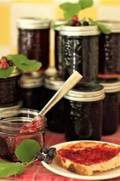 Preserve the bounty of sweet summer saskatoon berries in jars of glistening saskatoon jelly. A special ingredient enhances the berries' natural flavour.