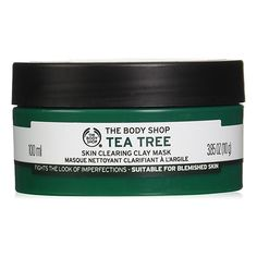 The Body Shop Tea Tree Oil Face Mask. It'll deliver a cooling sensation and it'll deep cleanse pores, control oil, and target breakouts. Also Lush face mask Face Peel Mask, Clay Face Mask, Acne Face Mask, Best Face Mask, Peel Off Mask, Clay Masks, Mud Masks, Face Masks, The Body Shop