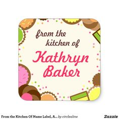 From the Kitchen Of Name Label, Assorted Cookies
