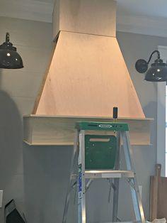 New farmhouse kitchen renovation vent hood Ideas Wood Hood Vent, Kitchen Vent Hood, Kitchen Exhaust, Kitchen Stove, Kitchen Redo, Kitchen Ideas, Kitchen Cabinets, Ranch Kitchen, White Cabinets