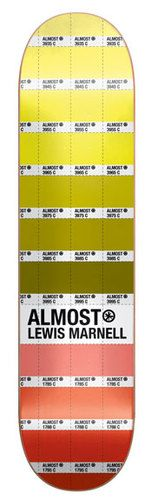 Almost Skateboard DECK Lewis Marnell CHIP BOOK 7.5
