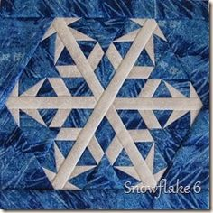 Snowflake 6.   Paper pieced block pattern available at https://payhip.com/CanuckQuilterDesigns