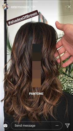 Hair Color Brown Shades Balayage Ideas For… Trend Herbst Haarfarbe Ideen Brown Hair Balayage, Hair Color Balayage, Balayage Brunette, Balayage Ombre, Blonde Hair, Ash Blonde, Brown Hair Color Shades, Different Brown Hair Colors, Trendy Hair Colors